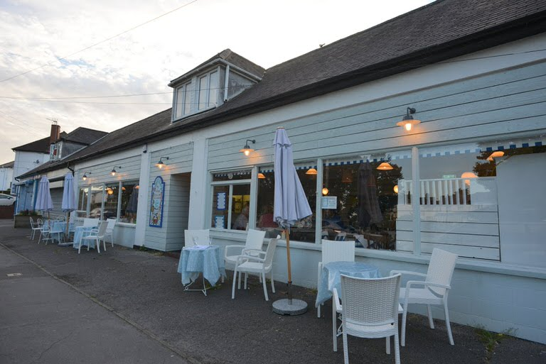 Seating outside Mr Villa's restaurant in The Knap, Barry and we also have a rear garden
